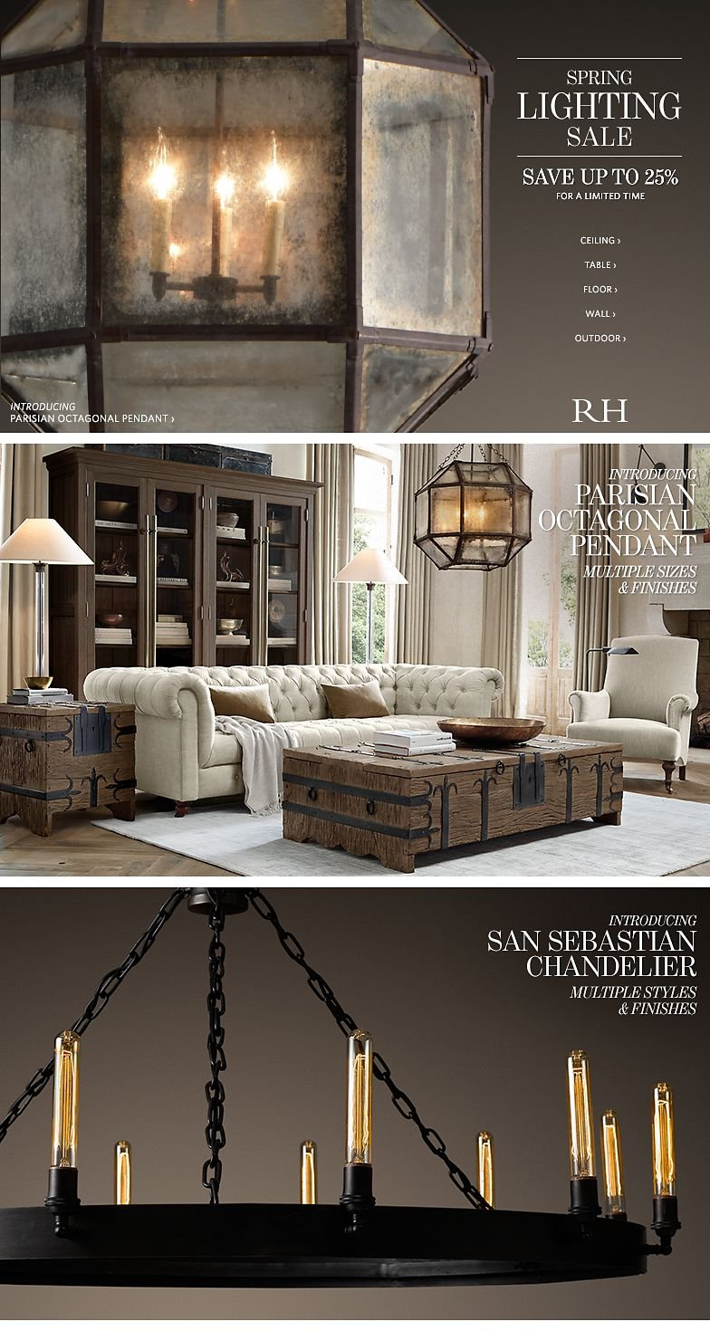 Restoration hardware limited time to save up to 25 at for When is restoration hardware lighting sale