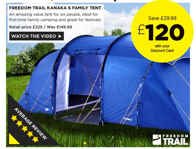 Freedom Trail Kanaka 6 Family Tent  sc 1 st  Milled & Go Outdoors: WOW! Berghaus waterproof jacket just £55   6 person ...