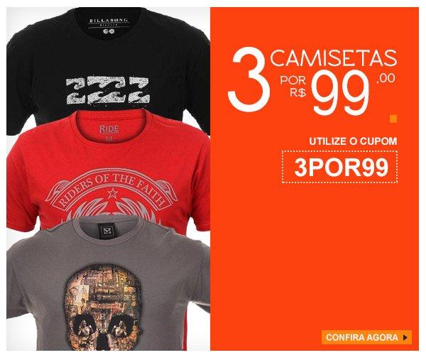 8119b7f9af Kanui BR  Promoção  3 Camisetas por R 99