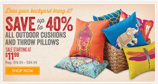 Captivating Up To 40% Off Outdoor Cushions And Pillows