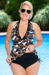 d1424db3f3988 Women s Plus Size Swimwear - Always 4 Me Urban Camo 2 Pc Tankini  887 -