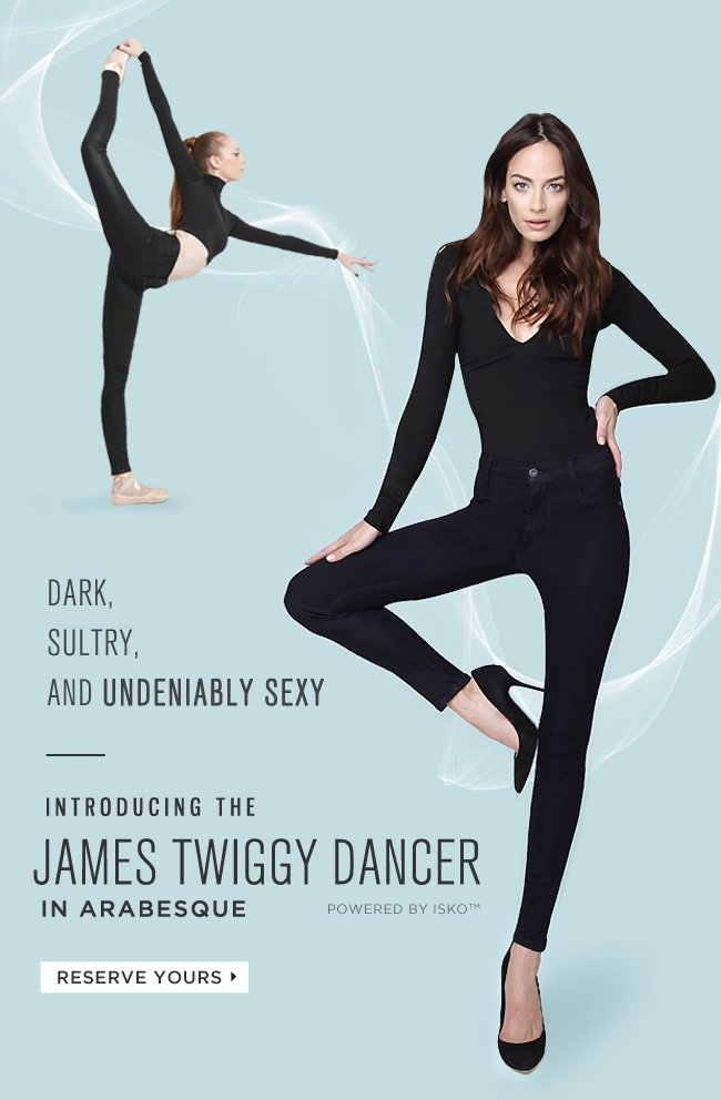 James Jeans Dark Sultry And Undeniably Sexy Twiggy Dancer In Arabesque