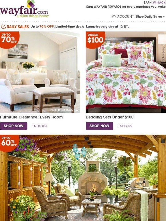 Wayfair The Furniture Clearance Starts Now Milled