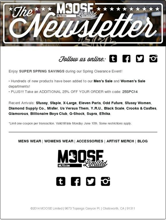 photograph about The Limited Printable Coupon identified as Coupon codes for moose minimal : Pizza discounts inside peterborough