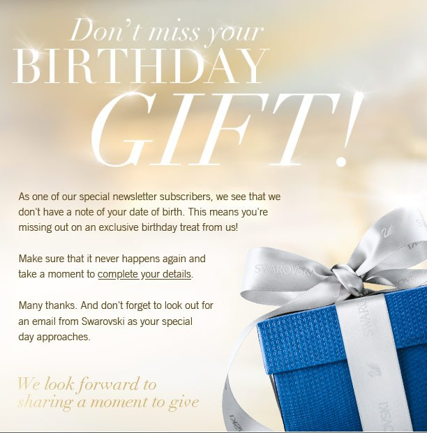Dont Miss Your Birthday Gift