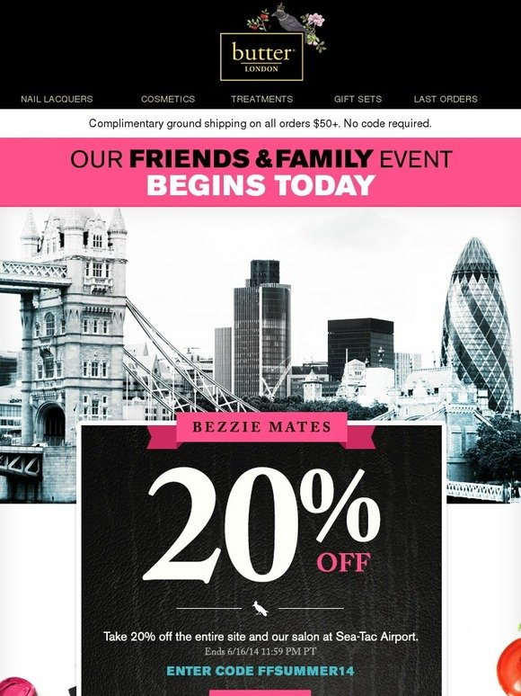 Butter London: Our Friends & Family Event Begins Now! | Milled