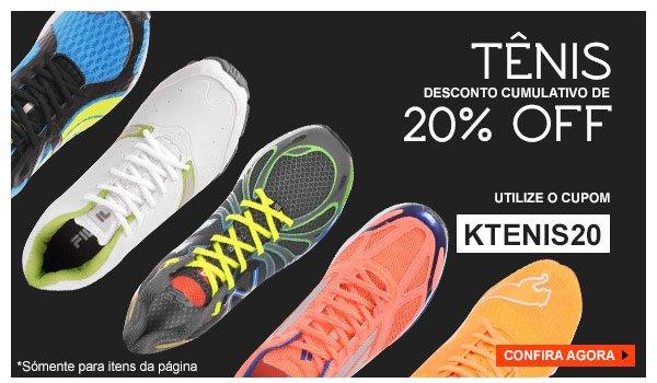 Cupom 20% OFF Tenis