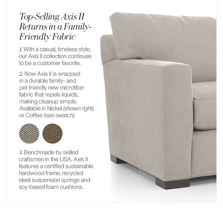 Top-Selling Axis II Returns in a  Family-Friendly Fabric