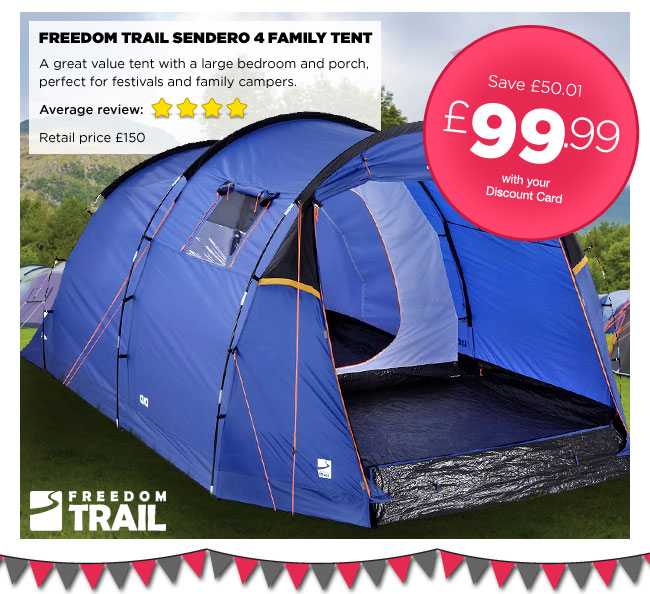 Freedom Trail Sendero 4 Family Tent & Freedom Trail Tents u0026 Freedom Trail Luna Trail 4 Cu0026ing Sc 1 St ...