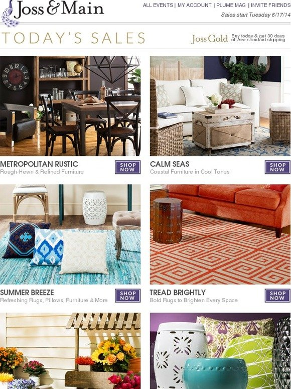 shop sales and deals from popular email newsletters on mille