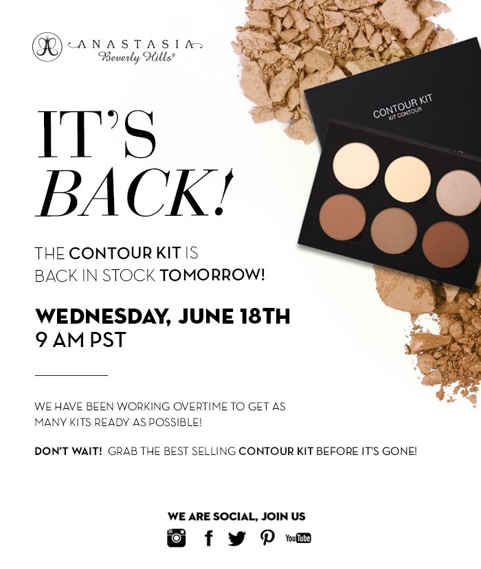 Anastasia Beverly Hills Contour Kit Is Back In Stock On Wednesday