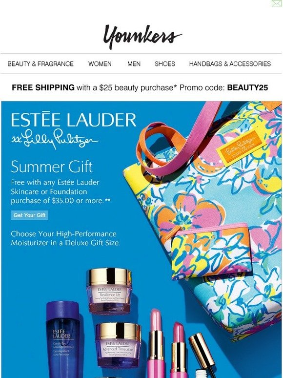 Younkers: 7-pc. gift FREE with $35 Estée Lauder purchase   Milled