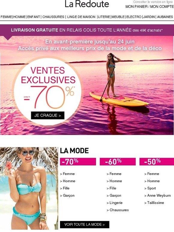 La redoute fr ventes exclusives les meilleures d marques s lectionn es pou - La redoute vente flash ...