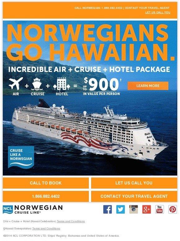 Norwegian Cruise Line: Celebrate Hawaii And Win A Free