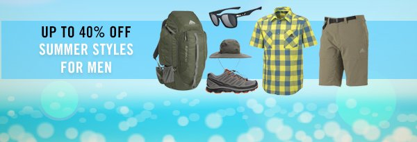 Shop Summer Styles For Men