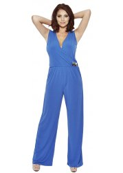 Mylie Cobalt Blue Wrapover Jumpsuit