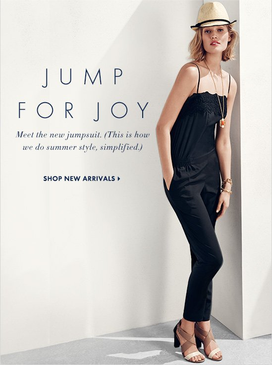 dd3e0d9beb93 Jump For Joy Meet the new jumpsuit. (This is How we do summer style