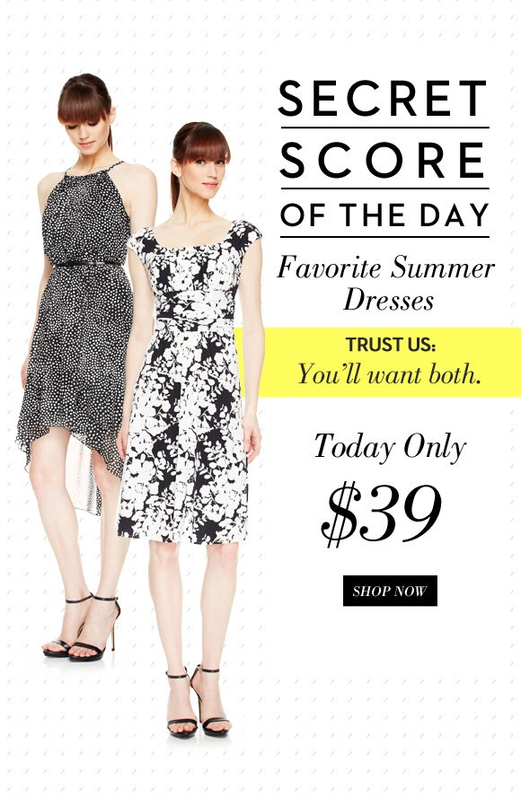 Secret Score of the Day: Favorite Summer Dresses for $39