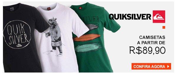 Camisetas Quiksilver - a partir de 89,90