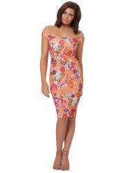 Jada Floral Print Off The Shoulder Dress