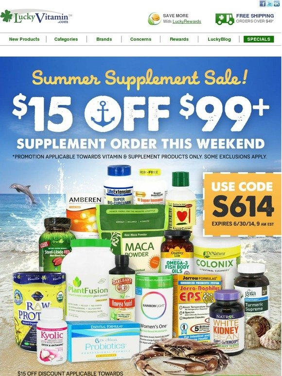 Lucky Vitamin Email Newsletters Shop Sales Discounts And Coupon Codes Page 32