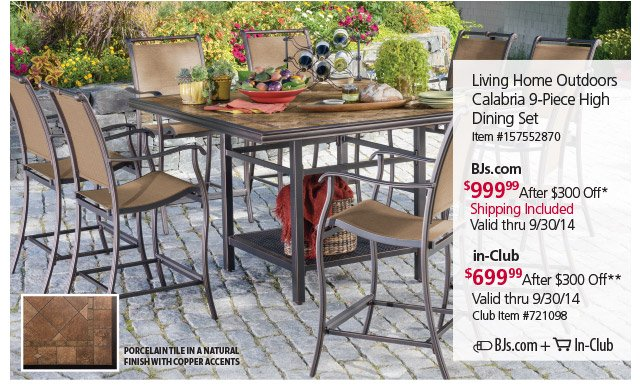 Living Room Sets Bjs Bjs Wholesale Club Online In Club Patio Set Savings
