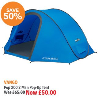 ... Vango Pop 200 2 Man Pop-Up Tent Was £65 Now £50  sc 1 st  Milled & Blacks: Amazing Savings On Festival Tents | Milled