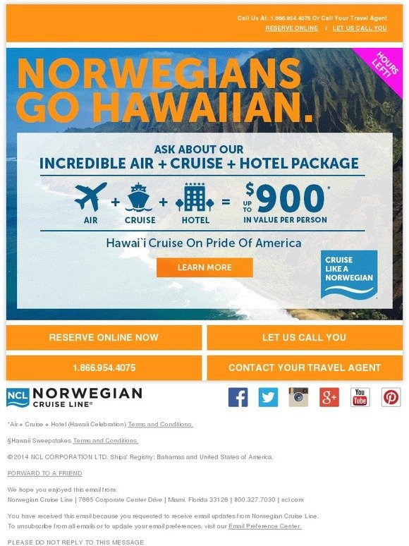 Norwegian Cruise Line: Don't Be A Foola And Miss The Hula