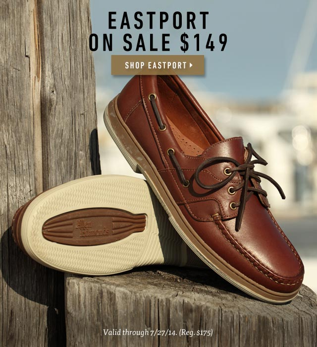 Allen Edmonds: Eastport Boat Shoe - On