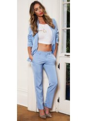 Blue Tailored Side Pocket Trousers