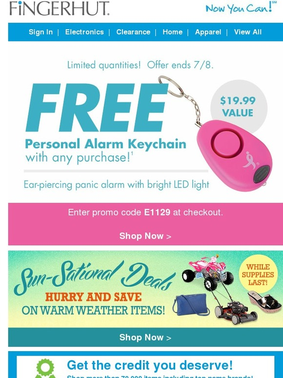 Fingerhut promotional coupons