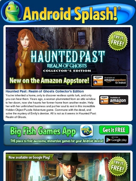 Big fish games haunted past is new on amazon today also for Big fish games new