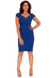 Sally Blue Cross Over Pencil Dress