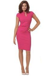 Sophia Hot Pink Sleeveless Pencil Dress
