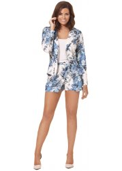Joy Blue & White Floral Skort As Seen On Jessica Wright