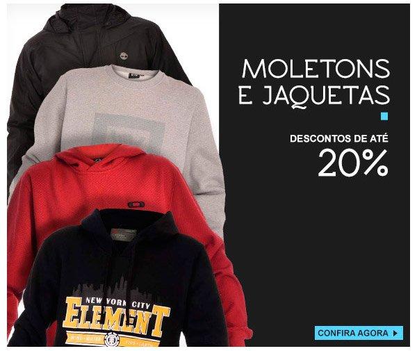 Moletons e Jaquetas - ate 20% OFF