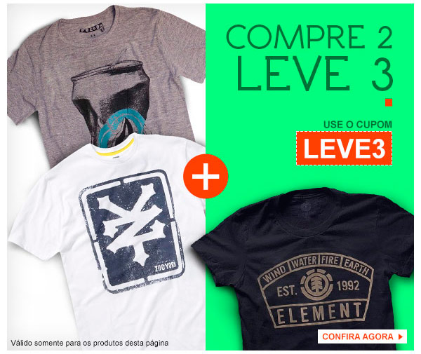 Compre 2, Leve 3 Camisetas