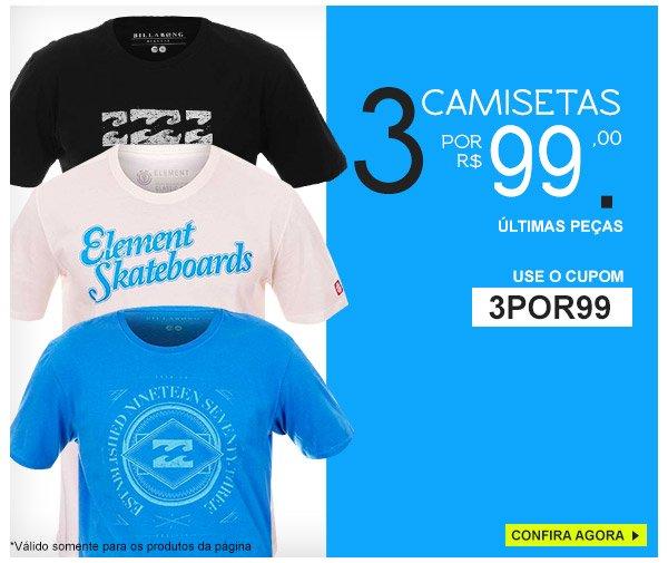 4 Camisetas por 99,00