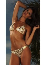 Hand Painted Gold Glimmer Bikini