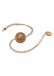 Premium Single Coin Holly Bracelet In Rose Gold