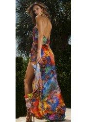One Night In Paris Rainbow Print Maxi Dress