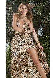 One Night In Paris Leopard Print Maxi Dress