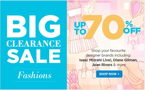 aa799906e3e The Shopping Channel  BIG Fashion Clearance Sale! Save Up To 70% Off ...