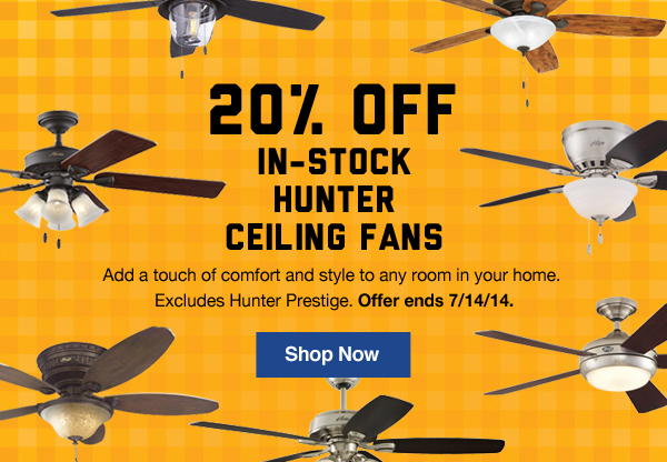 Lowes so chill 20 off hunter ceiling fans milled 20 off in stock hunter ceiling fans excludes hunter prestige offer ends mozeypictures Images