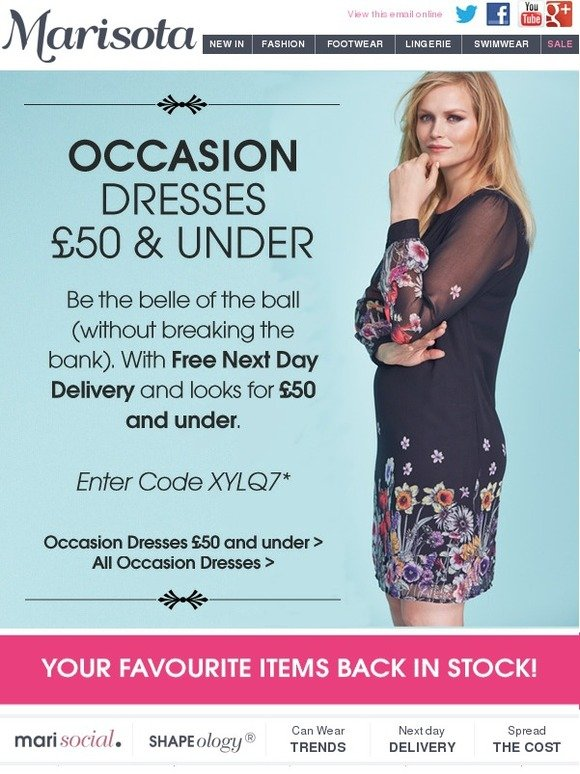 Marisota: Occasion Dresses £50 and under + Free Next Day Delivery ...