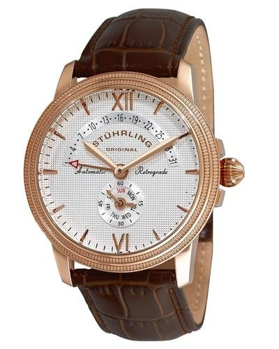 Stuhrling Day Date Stainless Steel Men's Watch