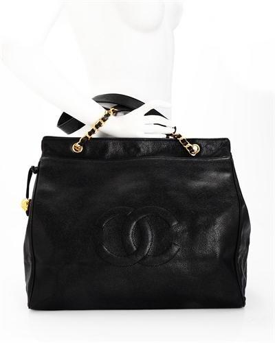 Chanel Genuine Leather Logo Tote Bag
