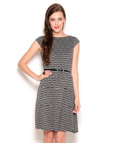Anne Klein Belted Print Dress