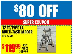harbor freight wow the only ladder you need 23 possible configurations 80 off milled. Black Bedroom Furniture Sets. Home Design Ideas