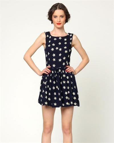 Grazia Flower Print A-Line Dress